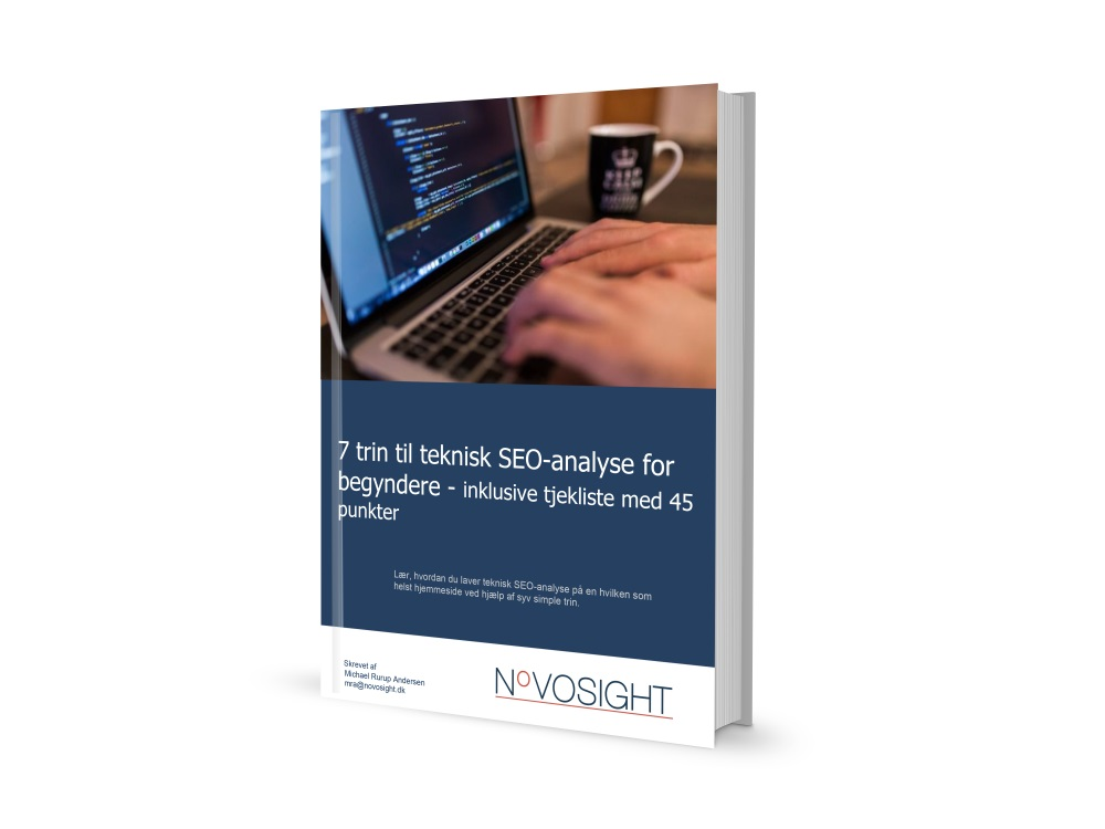 Novosight e-bog teknisk SEO-analyse for begyndere