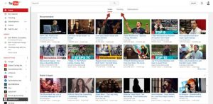 home dashboard youtube trending
